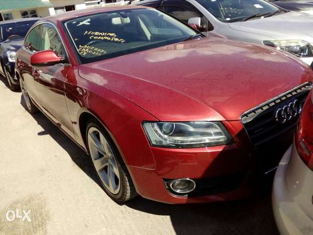 Audi A4 red colour new plate number Mombasa Island - image 3