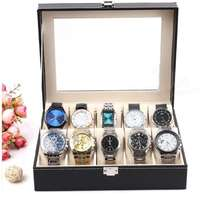 Watch Storage Case Bracelet Organiser Display Box Holders Glass Top