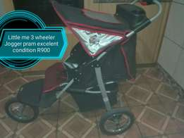 Little me 3 wheeler Jogger pram