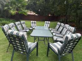 Patio sets 12 Chairs 2 Tables