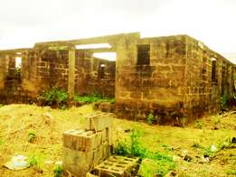 Uncompleted 3Bedroom Bungalow On A Plot At Mowe, Ogun State
