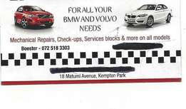 bmw and volvo mobile mechanic and diagnostics to all makes of vehicles