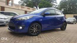 Mazda demio sports version rally blue with paddle shift fog & spoiler