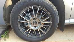"15"" Rims and tyres 4 x 100"