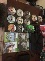 Xbox 360 500gb with 14 games for sale