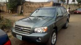 Few months used Toyota Highlander