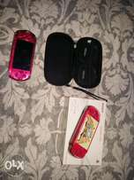 Radiant red psp+Carry case and 12 games