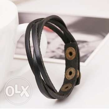 Slim Leather Buckle Bracelet Men fashion Bangles Ojo - image 1