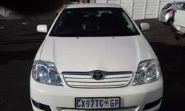 Toyota Corolla1.8i GLS Model 2007 5Door Colour White Factory A/C&CD P