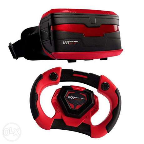 VR Real Feel Virtual Reality Car Racing Gaming System with Bluetooth