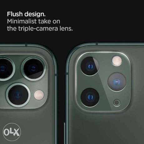2x camera protective glass, midnight green for iPhone 11 Pro / Pro Max