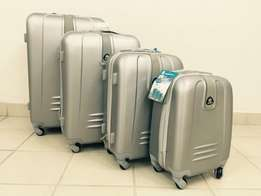 Set of 4 Suitcases Travel Trolley Luggage,ABS with Universal Wheels (B