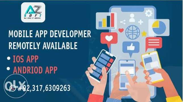 Mobile APP , Android App, IOS App Developer Remotely Available