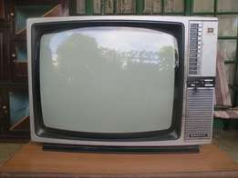 Old Skool 21inch Color Sanyo TV + Free to air set top box.