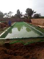 Fish pond making at 4.5m for one of 1,000 fingerlings