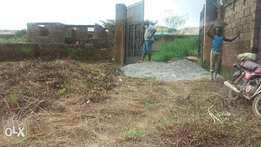 A plot of land at ologede estate new garage