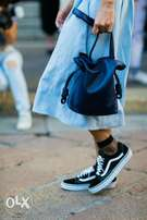 Old school vans female sneakers