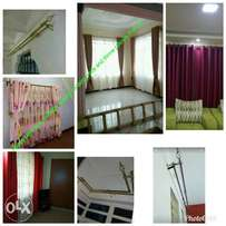 Elegant curtain rods and curtains