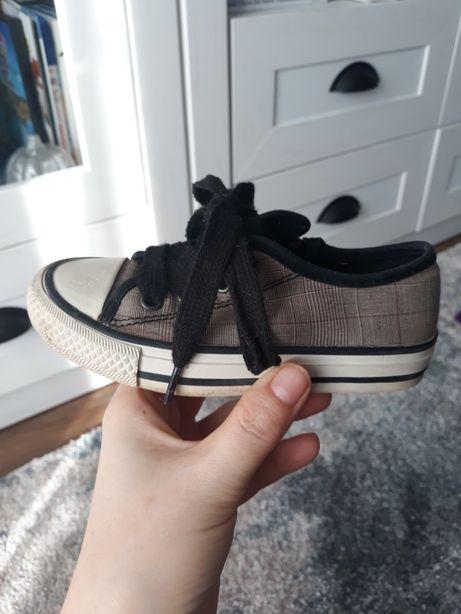 Buty tenisówki Zara 24 25 r. Buciki obuwie tenisowe kratka
