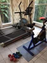 Treadmill and Rowing Machine combo