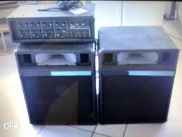 USA PVXM 4 amplifier & USA PA system acoustic speakers