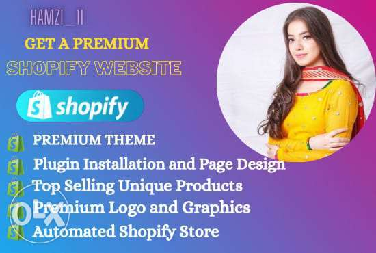 we build a branded shopify website and dropshipping store
