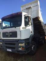 MAN TGA 33410. 10 cub tipper