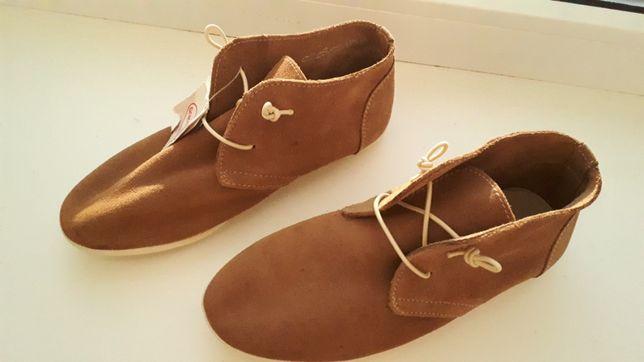 Демисезонные ботинки с натуральной замши для девочки 15c38f3a49639
