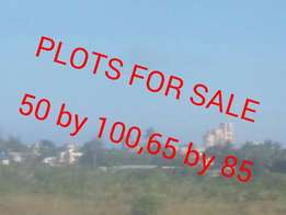 Plots for sale.50 by 100,65 by 85