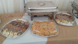 Platters and cakes for meetings and parties