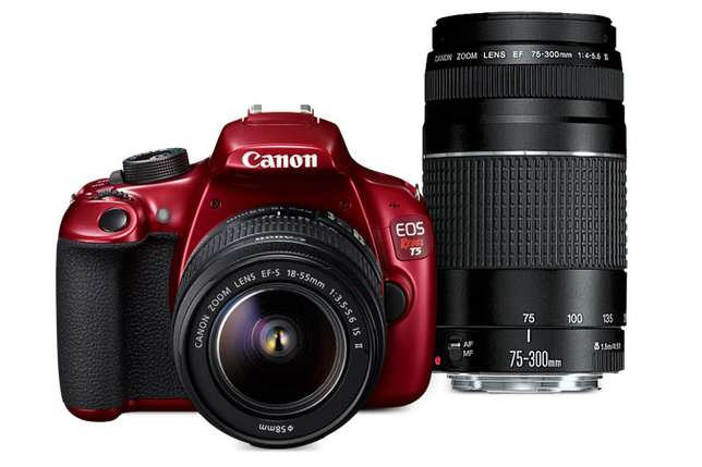 Canon EOS Rebel T5 Red EF-S 18-55mm IS II lens plus EF 75-300mm lens Imara Daima - image 1