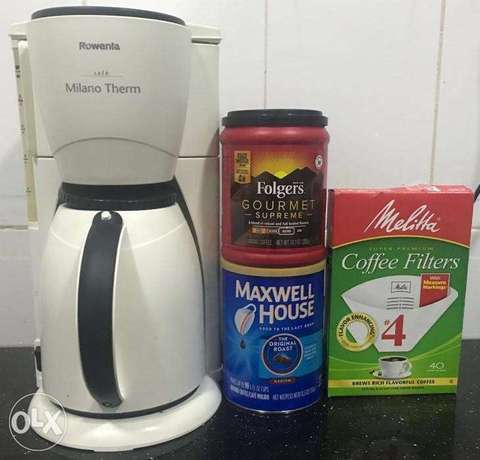 Therm Coffee Maker + Coffee Powder + Cone Coffee Filters