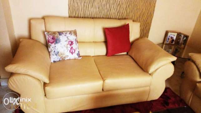 Leather sofa - 7 seat Woodly - image 1
