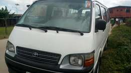 Extremely sharp and sound Toyota hiace bus 18 seater