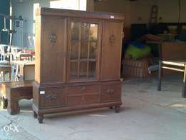 Old antique display cabinet