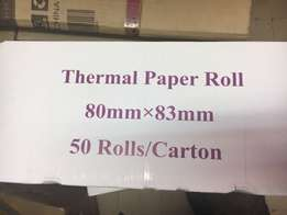80x83 Thermal Paper - 12.50 each