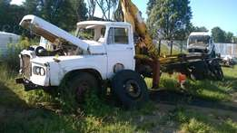 1982 Toyota DA crane truck complete or stripping for spares.