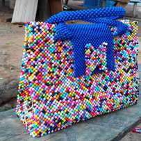 Ladies bags made with beeds only