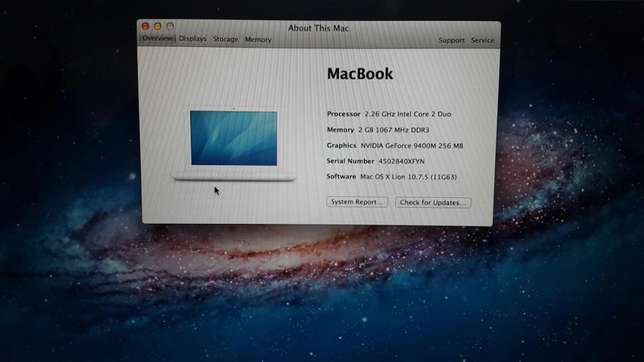 Macbook unibody core2duo laptop 2gb 250gb 256mb graphics kes 23k Nairobi CBD - image 5