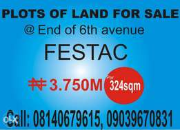 Limited plots of land available for sale end of 6th avenue festac tow