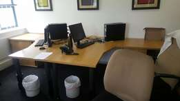 Office tables with credenza for sale