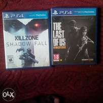 PS4 Last Of us and Kill Zone for sale or swap with GTA 5