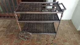 Antique Cast Iron Tea Trolley