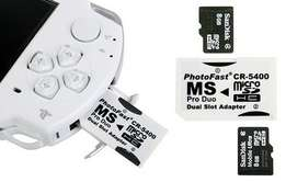 PSP Memory card Adapters | FREE CASING INCLUDED | Dual adapters