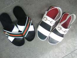 Handmade Gucci slippers and sandals
