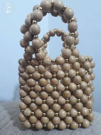 Bag of beads beige