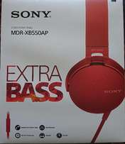 Sony Extrabass Headphones - Red : Brand New : Never Been Used