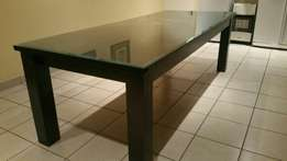 Dining table with glass top PRICE REDUCED!!!