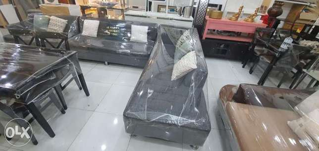L shape sofa and desk for sale contact whatsapp please free