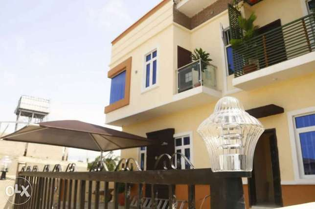 Well finished newly built 4 bedroom terrace with bq at Chevron Lekki Peninsula - image 1